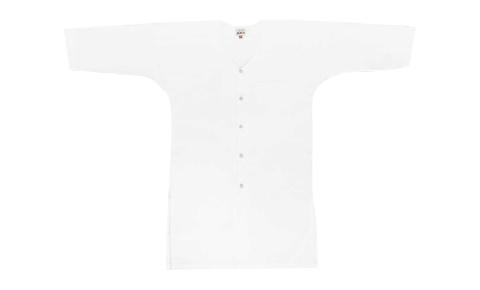 江戸一 祭り 鯉口シャツ 半長尺晒 晒肩当付 大人用 超超巾広(5L)
