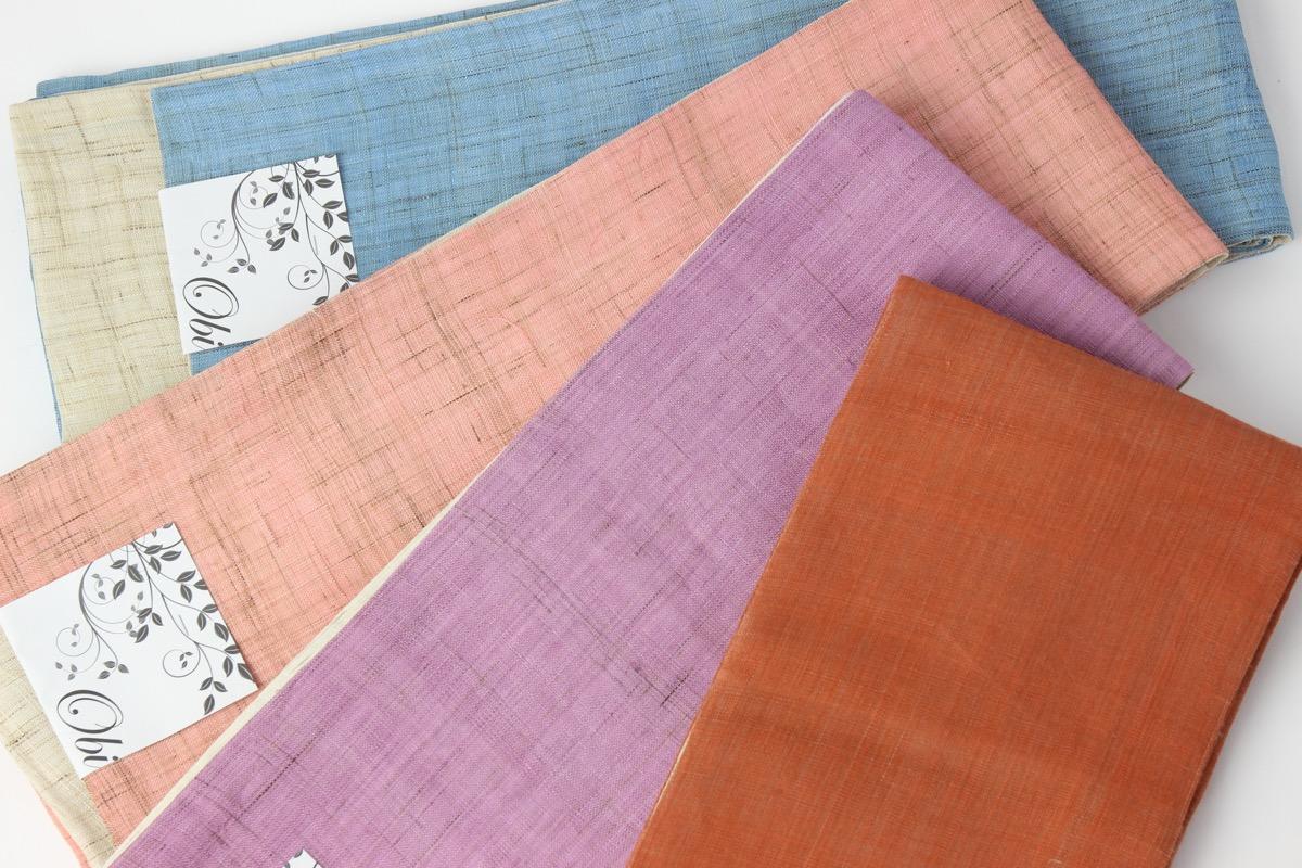 本麻 半幅帯 日本製 着物 夏用着物 浴衣 麻 紬 小紋 半巾帯