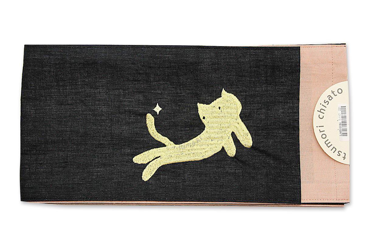 tsumori chisato 浴衣帯 半幅 ゆかた ツモリチサト ユカタ 猫 ネコ 花火大会 デート レディース 女性 可愛い メール便不可 トッカ