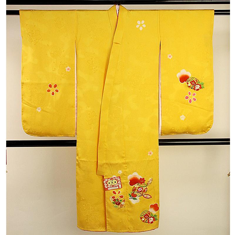 訳あり 七五三 三ツ身 正絹 祝着 着物 3歳 3才 きもの 子供用 女の子 長襦袢 トッカ 送料無料 送料込み