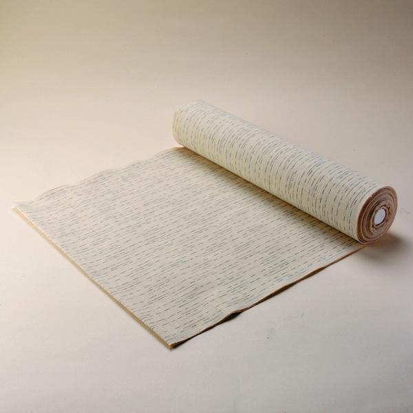 絣紬 とぎれ縞 -白地- 木綿反物