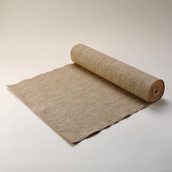絣紬 とぎれ縞 -茶地- 木綿反物