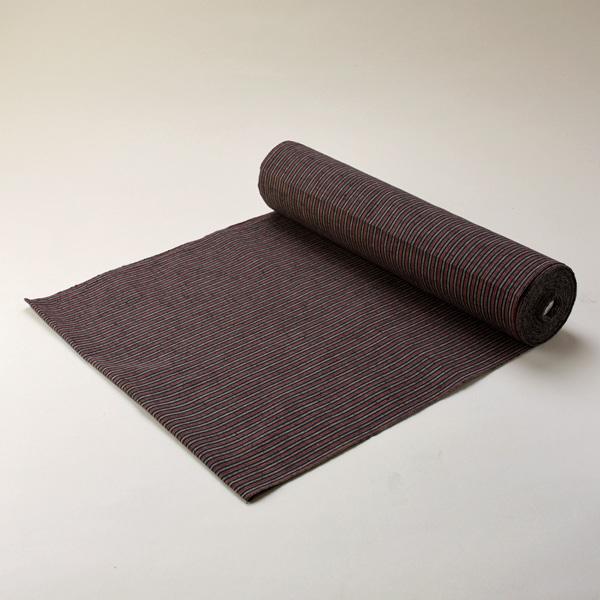 縞紬 S-14 -白露(しらつゆ)- 木綿反物 送料無料 送料込み