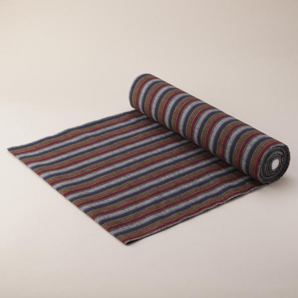 縞紬 S-24 -風雅(ふうが)- 木綿反物 送料無料 送料込み