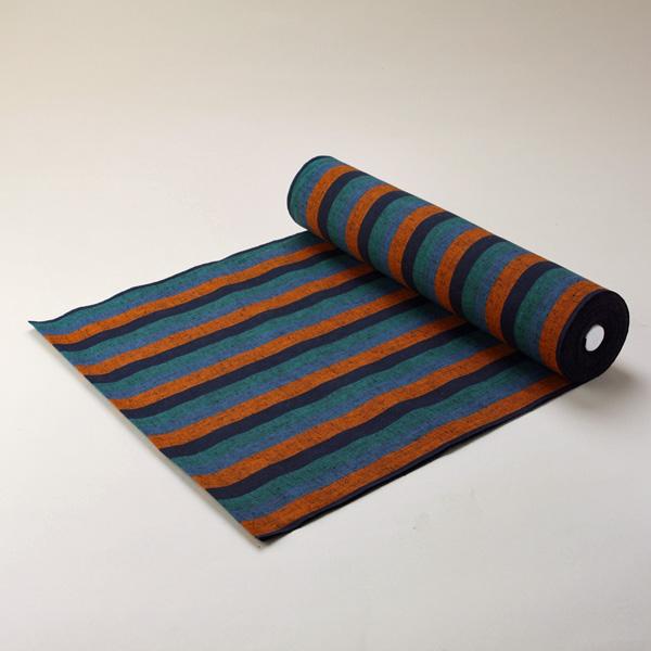 縞紬 S-28 -夕紅(ゆうくれない)- 木綿反物 送料無料 送料込み