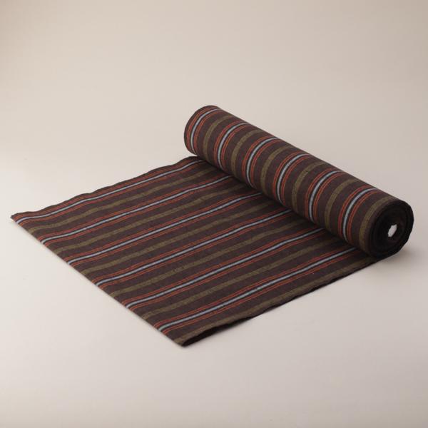 縞紬 S-33 -中秋(ちゅうしゅう)- 木綿反物 送料無料 送料込み