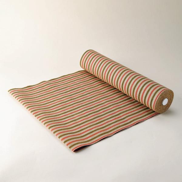 縞紬 S-37 -土筆(つくし)- 木綿反物 送料無料 送料込み