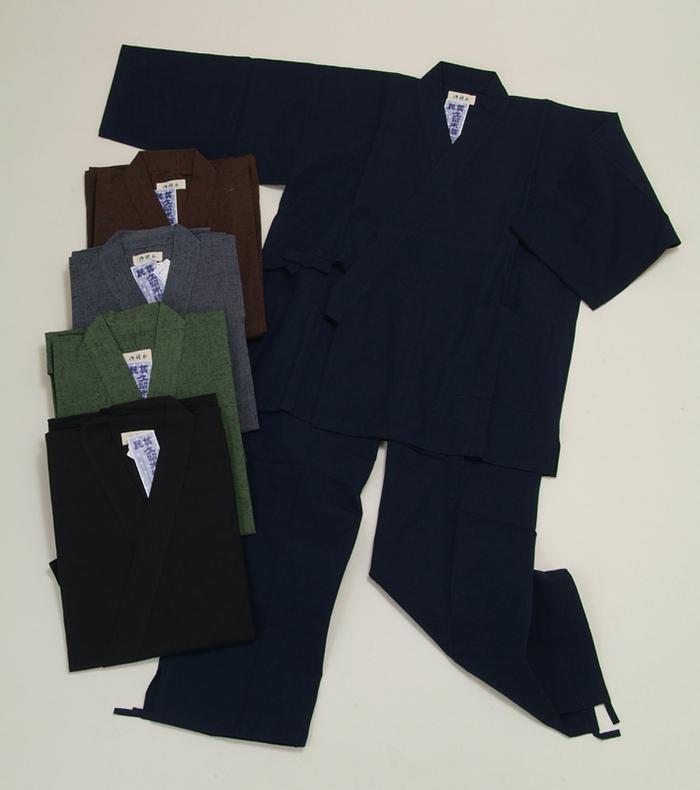 送料無料 作務衣(紳士用) 久留米織 仕事着 普段着 部屋着 寝間着 和装 綿100% メール便不可