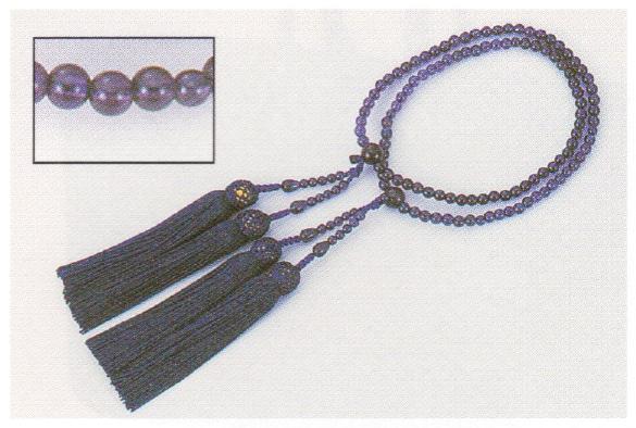 あづま姿(念珠) 女性用二輪 紫水晶 女らしさをひきたてる和装小物 着付小物 和装小物 取り寄せ商品 あずま姿 メール便不可