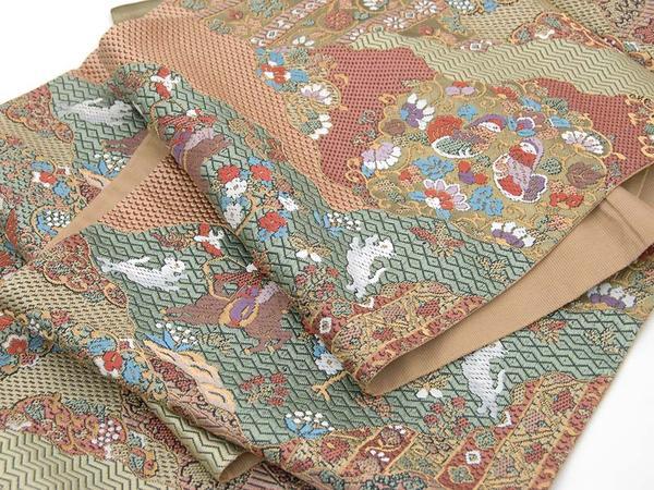 訳あり特価 袋帯 縫繍織(本金箔) トッカ