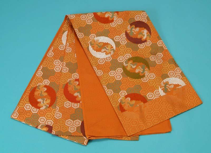 訳あり特価 袋帯 西陣織 (鳳凰丸文 生糸使用) トッカ