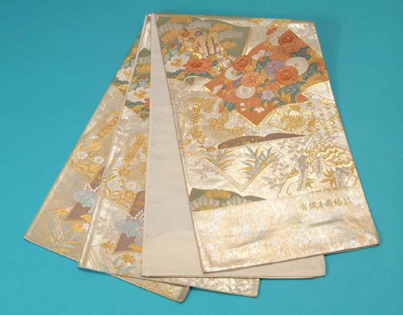 訳あり特価 袋帯 西陣織 (有職本蒔絵紋) トッカ