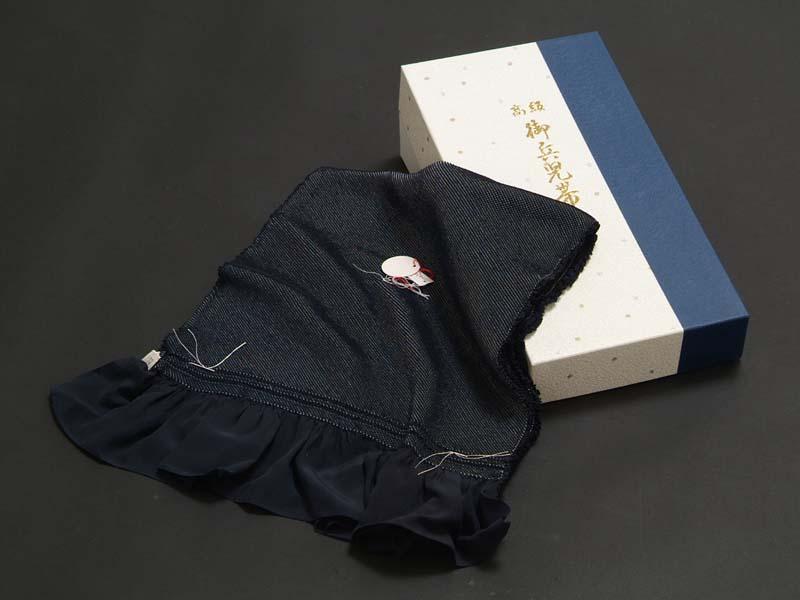 男物 兵児帯 (正絹・総絞り)藍 紳士物 メンズ 浴衣から着物まで幅広く使えます。 絹100% メール便不可 総絞り兵児帯 長尺 長いサイズ 男性用 父の日 送料無料 送料込み