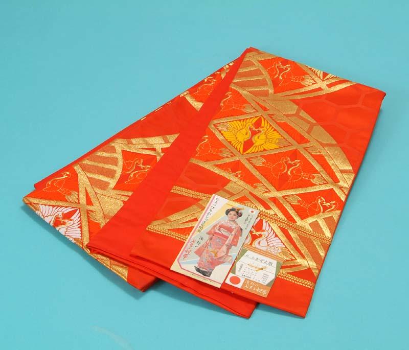 送料無料 訳あり特価 子供用袋帯 子供用袋帯 送料無料 訳あり特価 (赤色地に斜め格子と双鶴), ペット用品フェイスワン:0df8a797 --- kutter.pl