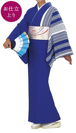 踊り衣裳 お仕立上り着物 風印 新絵羽きもの 紫(白ストライプ柄) 取り寄せ商品 日本の踊り 掲載 踊り絵羽 稽古 習い事 舞踊 民謡 発表会《女性用 レディース 洗える着物》ストライプ柄が爽やかな印象に。 ポイント20倍