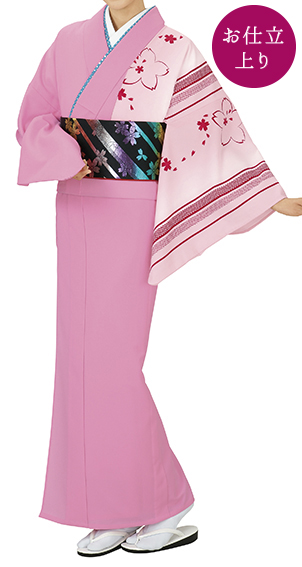 踊り衣裳 お仕立上り着物 風印 新絵羽きもの ピンク(赤柄) 取り寄せ商品 日本の踊り 掲載 踊り絵羽 稽古 習い事 舞踊 民謡 発表会《女性用 レディース 洗える着物》かわいらしい印象のお着物です。 ポイント20倍 ポイント20倍