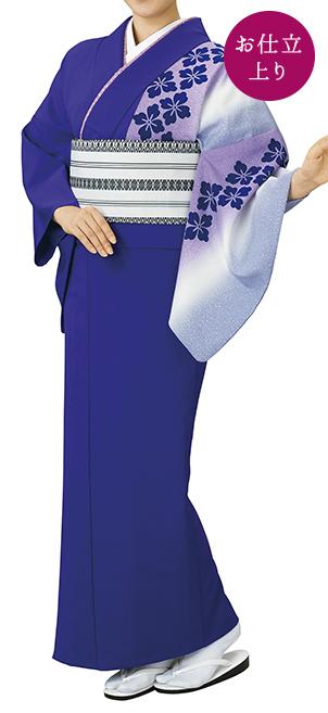 踊り衣裳 お仕立上り着物 風印 新絵羽きもの 紫(白柄) 取り寄せ商品 日本の踊り 掲載 踊り絵羽 稽古 習い事 舞踊 民謡 発表会《女性用 レディース 洗える着物》日本の伝統柄が落ち着いた印象に。 ポイント20倍 ポイント20倍