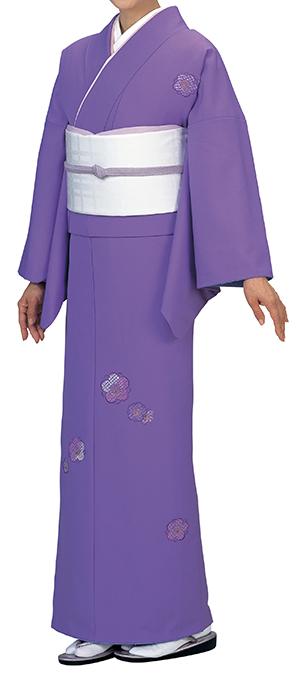 踊り衣裳 反物 礼印 一越刺繍附下げ 紫苑(しおん) 取り寄せ商品 日本の踊り 掲載 踊り絵羽 稽古 習い事 舞踊 民謡 発表会《女性用 レディース 洗える着物》刺繍が施された品のあるお着物。 ポイント20倍 ポイント20倍