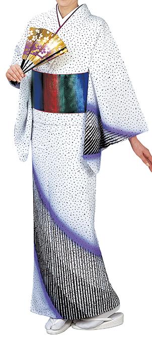 踊り衣裳 反物 川印 一越本絵羽 白色 取り寄せ商品 日本の踊り 掲載 踊り絵羽 稽古 習い事 舞踊 民謡 発表会《女性用 レディース 洗える着物》 ポイント20倍
