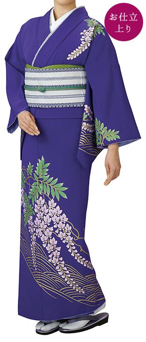 踊り衣裳 お仕立上り着物 里印 胴抜き絵羽 紫 取り寄せ商品 日本の踊り 掲載 踊り絵羽 稽古 習い事 舞踊 民謡 発表会《女性用 レディース 洗える着物》 ポイント20倍 ポイント20倍