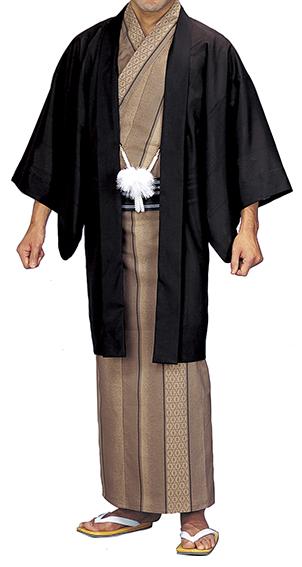 踊り衣裳 お仕立上り駒絽羽織 照印 Mサイズ 焦茶 取り寄せ商品 日本の踊り 掲載 稽古 習い事 舞踊 民謡 発表会《男性用 メンズ 洗える着物》 ポイント20倍 ポイント20倍