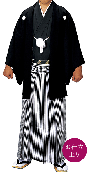 踊り衣裳 お仕立上り羽織袷せ 織印 黒 取り寄せ商品 羽織単品 日本の踊り 掲載 稽古 習い事 舞踊 民謡 発表会《男性用 メンズ 洗える着物》 ポイント20倍 ポイント20倍