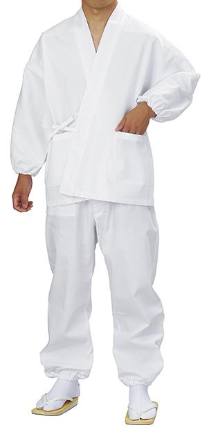 神官用作務衣 作務衣 衣印 白 取り寄せ商品 日本の踊り 掲載 綿100% 神社 神主《男性用 メンズ》 ポイント20倍 ポイント20倍