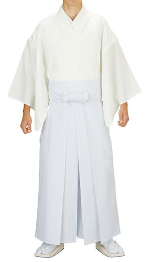 神寺用衣裳 神官用白衣 白 冬用 取り寄せ商品 日本の踊り 掲載 白衣 神官 僧侶 寺 神社《男性用 メンズ 洗える着物》 ポイント20倍 ポイント20倍