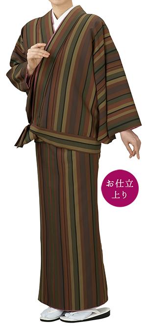 踊り衣裳 二部式きもの小紋 袷せ仕立 時印 茶 取り寄せ商品 日本の踊り 掲載 踊り絵羽 稽古 習い事 舞踊 民謡 発表会《女性用 レディース 洗える着物》 ポイント20倍 ポイント20倍