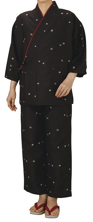 踊り衣裳 割烹用作務衣 逸印 焦茶 取り寄せ商品 日本の踊り 掲載 割烹料理店 和食店 制服 作務衣 メール便不可《女性用 レディース 洗える着物》 ポイント20倍