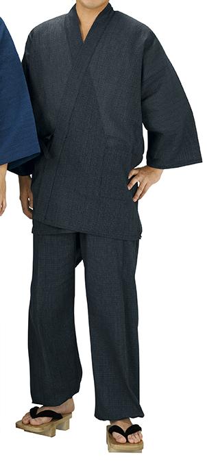 踊り衣裳 しじら織作務衣 相印 黒 取り寄せ商品 日本の踊り 掲載 作務衣 普段着 メール便不可《男性用 女性用 メンズ レディース》 ポイント20倍
