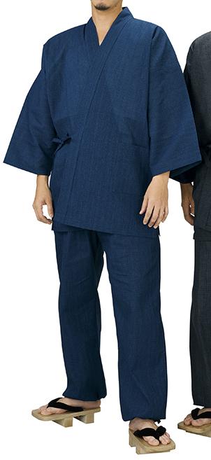 踊り衣裳 しじら織作務衣 相印 紺 取り寄せ商品 日本の踊り 掲載 作務衣 普段着 メール便不可《男性用 女性用 メンズ レディース》 ポイント20倍
