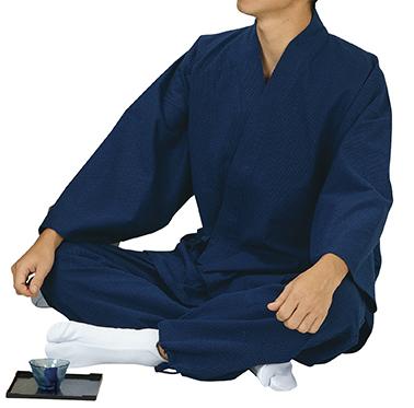 踊り衣裳 ドビー織作務衣 作印 濃紺 取り寄せ商品 日本の踊り 掲載 作務衣 普段着 メール便不可《男性用 女性用 メンズ レディース》 ポイント20倍