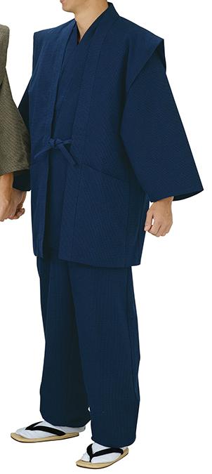 踊り衣裳 ドビー織羽織 伊印 濃紺 羽織単品 取り寄せ商品 日本の踊り 掲載 作務衣は別売り 普段着 メール便不可《男性用 女性用 メンズ レディース》 ポイント20倍