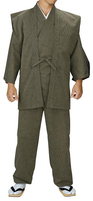 踊り衣裳 ドビー織羽織 伊印 茶 羽織単品 取り寄せ商品 日本の踊り 掲載 作務衣は別売り 普段着 メール便不可《男性用 女性用 メンズ レディース》 ポイント20倍