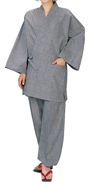 踊り衣裳 作務衣 務印 LLサイズ ライトグレー 取り寄せ商品 日本の踊り 掲載 作務衣 普段着 メール便不可《男性用 女性用 メンズ レディース》 ポイント20倍