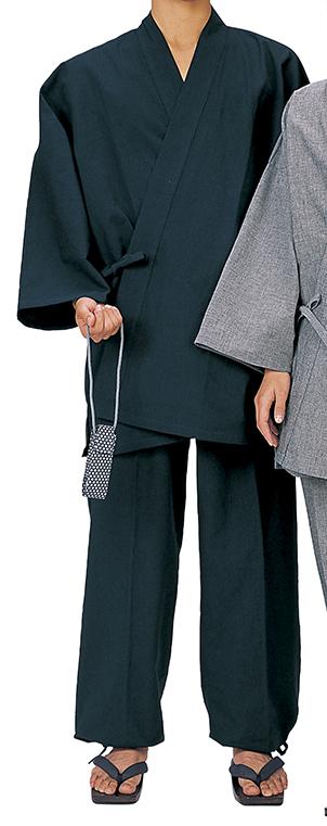 踊り衣裳 作務衣 務印 LLサイズ 紺 取り寄せ商品 日本の踊り 掲載 作務衣 普段着 メール便不可《男性用 女性用 メンズ レディース》 ポイント20倍
