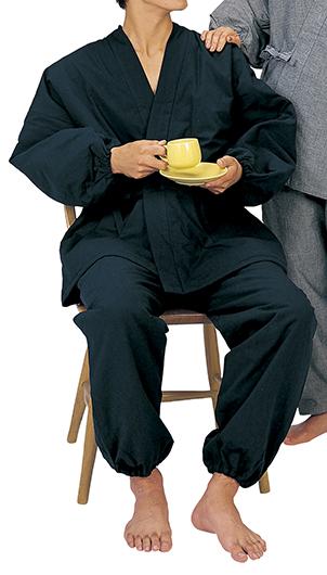 踊り衣裳 綿入作務衣 暖印 紺 取り寄せ商品 日本の踊り 掲載 作務衣 普段着 秋冬 メール便不可《男性用 女性用 メンズ レディース》 ポイント20倍 ポイント20倍
