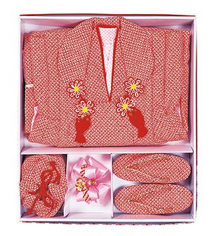 踊り衣裳 被布コートセット 赤 取り寄せ商品 日本の踊り 掲載 女の子 七五三 3歳 神社 祝い着《女の子 キッズ》 ポイント20倍