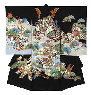 踊り衣裳 のしめ 聡印 黒 取り寄せ商品 日本の踊り 掲載 お宮詣り 神社 男の子 赤ちゃん 祝い着《男の子 ベビー用品》 ポイント20倍