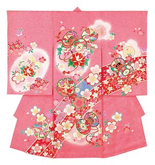踊り衣裳 のしめ 歓印 ピンク 取り寄せ商品 日本の踊り 掲載 お宮詣り 神社 女の子 赤ちゃん 祝い着《女の子 ベビー用品》 ポイント20倍 送料無料 送料込み