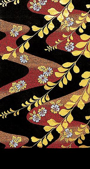 踊り衣裳 袋帯仕立付 面印 黒・金×赤 取り寄せ商品 日本の踊り 掲載 稽古 習い事 舞踊 民謡 袋帯《女性用 レディース》 ポイント20倍 メール便不可