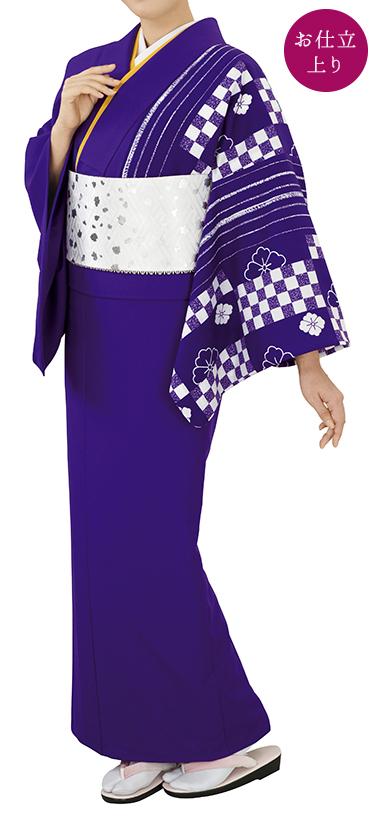 踊り衣裳 お仕立上り着物 風印 新絵羽きもの 紫 取り寄せ商品 日本の踊り 掲載 踊り絵羽 稽古 習い事 舞踊 民謡 発表会《女性用 レディース 洗える着物》 ポイント20倍 ポイント20倍