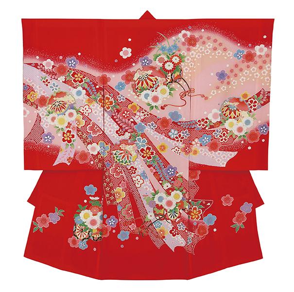 踊り衣裳 のしめ 歓印 赤 取り寄せ商品 日本の踊り 掲載 お宮詣り 神社 女の子 赤ちゃん 祝い着《女の子 ベビー用品》 ポイント20倍 送料無料 送料込み