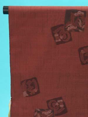 送料無料 訳あり 十日町紬 反物(正絹) 深みのある茶色地 飛び柄 勇屋織物(株)謹製 店舗キャリー在庫 カジュアル お稽古 ショッピング ランチ 着付け教室 たんもの 着尺 トッカ