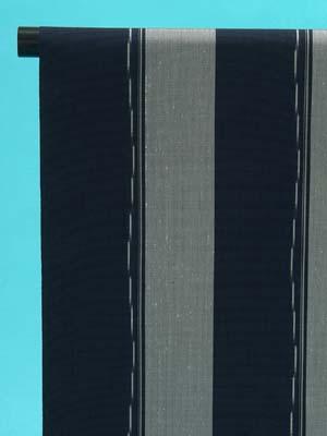 送料無料 訳あり 十日町紬 反物(正絹) 紺×明るいグレー 縞 店舗キャリー在庫 カジュアル お稽古 ショッピング ランチ 着付け教室 たんもの 着尺
