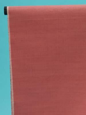 訳あり 結城紬 反物(正絹) 蘇芳香(褐色がかった濃いピンク)無地 奥順(株)謹製 店舗キャリー在庫 カジュアル お稽古 ショッピング ランチ 着付け教室 たんもの 着尺