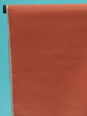 訳あり 結城紬 反物(正絹) 紅樺色・無地 奥順(株)謹製 店舗キャリー在庫 カジュアル お稽古 ショッピング ランチ 着付け教室 たんもの 着尺