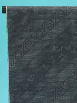 訳あり 結城紬 反物(正絹) 墨色(80亀甲)斜め縞に花 奥順(株)謹製 店舗キャリー在庫 カジュアル お稽古 ショッピング ランチ 着付け教室 たんもの 着尺