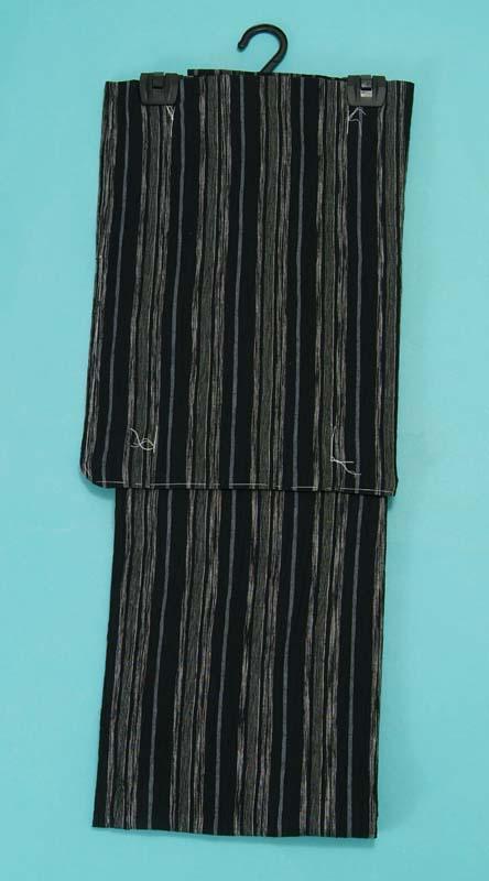 むさしの物語(綿麻) 浴衣(黒・縞) レディース レトロ 女 浴衣帯 下駄 浴衣3点セットにも対応 トッカ 大激安売り 送料無料